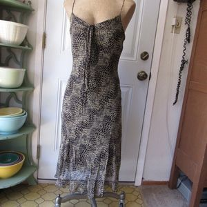 Betsy Johnson Snake Skin  Dress Spaghetti Strap  8